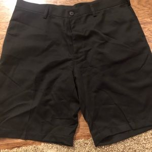 Men's black Haggar brand shorts, size 38